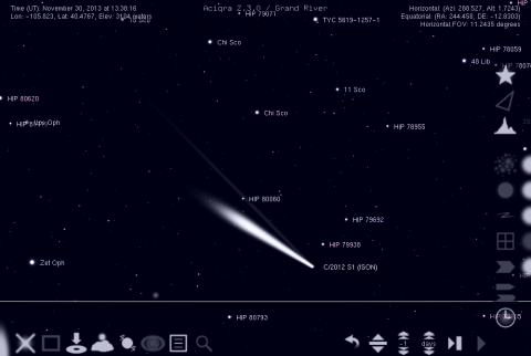 The much anticipated possibly-Great Comet of 2013