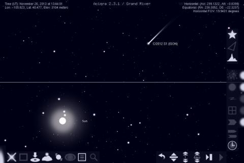 C/2012 S1 (ISON) Rising Before Perihelion