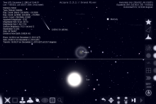 Celestial Triangle with Comet, Moon and Mercury as Vertices